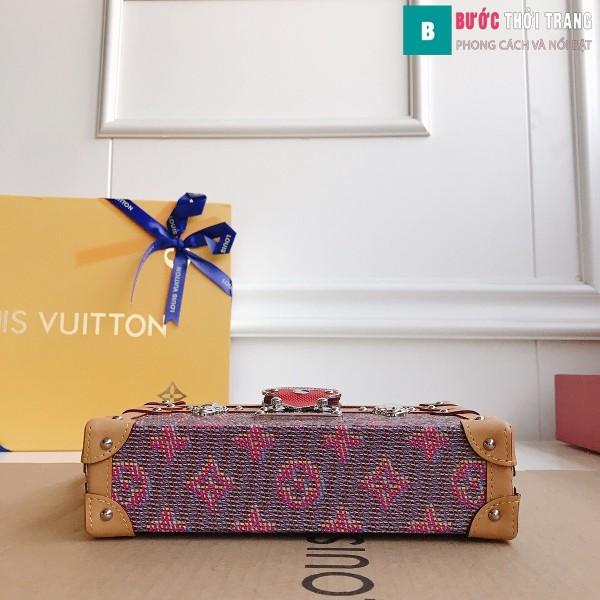 Túi xách LV Petite Malle siêu cấp màu tím size 20 cm - M40273