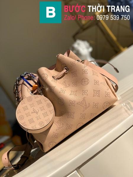 Túi xách Louis Vuitton Muria siêu cấp da bê màu hồng size 25 cm - M55798