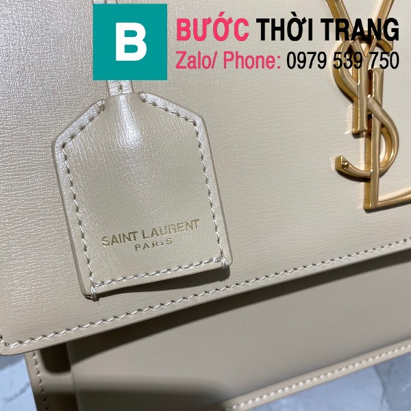 Túi xách YSL Saint Laurernt Sunset siêu cấp da bê màu trắng size 25cm - 634723