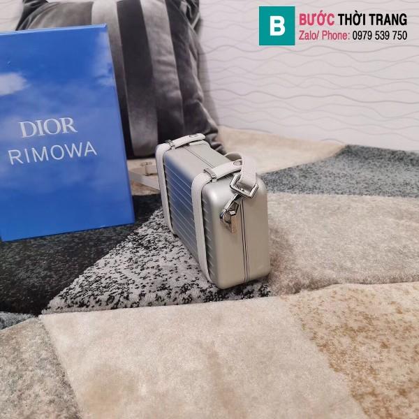 Túi xách Dior rimowa siêu cấp da bê màu nhôm xám size 20 cm