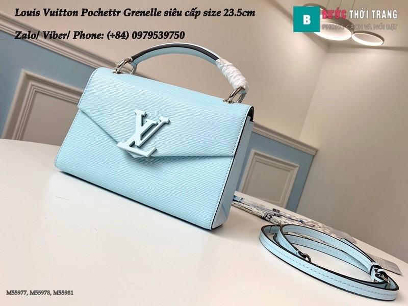Túi xách Louis Vuitton Pochette Grenelle màu xanh siêu cấp size 23.5cm - M55981