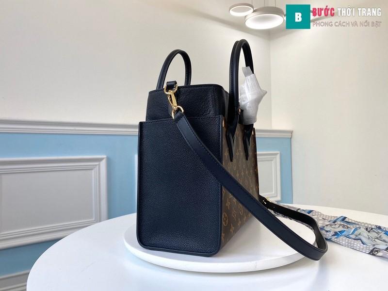Túi xách LV Louis Vuitton On my side siêu cấp màu nâu size 30.5 cm - M53824