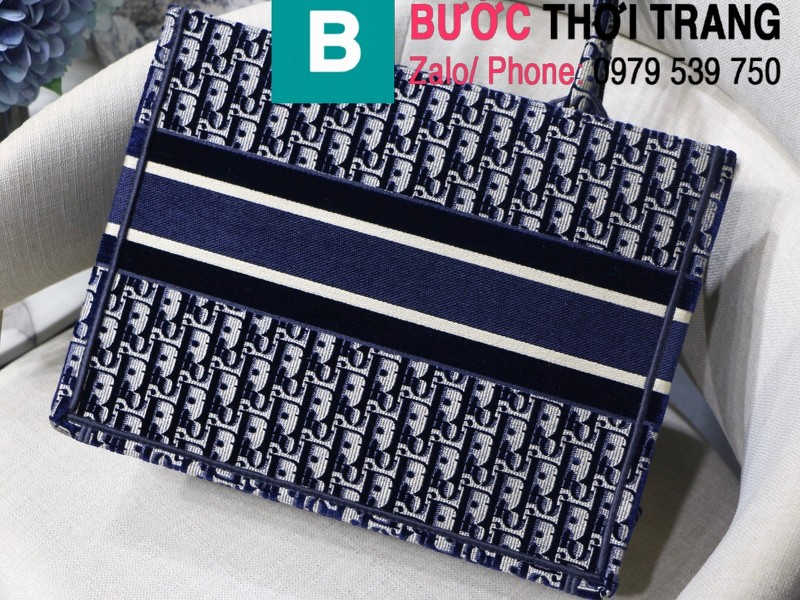 Túi xách Dior Book Tote siêu cấp chất liệu vải casvan màu 2 size 36.5cm - M1286