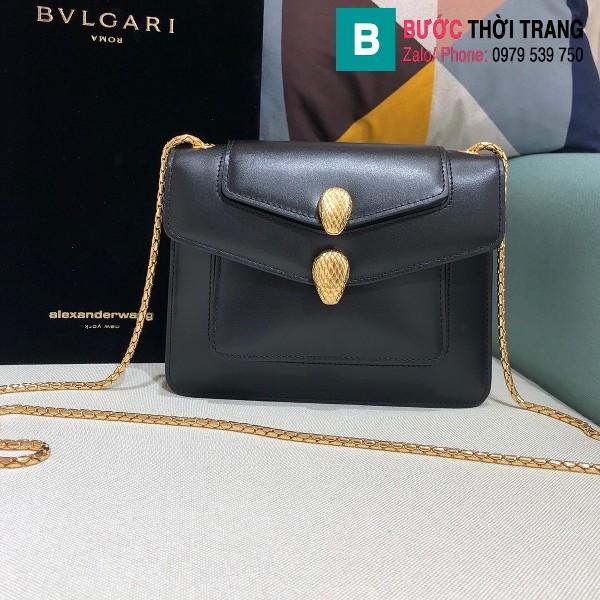 Túi xách Bvlgari Alexander Wang siêu cấp da bê màu đen size 20 cm