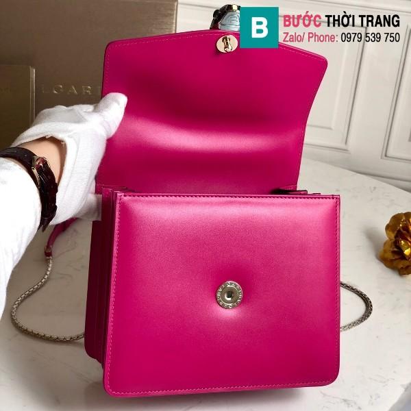 Túi xách Bvlgari serventi forever siêu cấp da cá đuối màu hồng size 20 cm