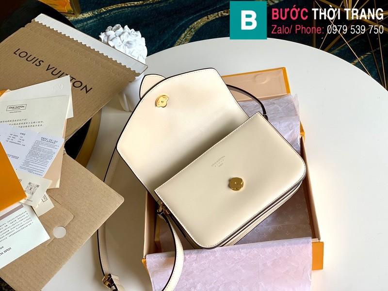 Túi xách Louis Vuitton Pont 9 siêu cấp da bò màu  trắng size 23 cm - M55980