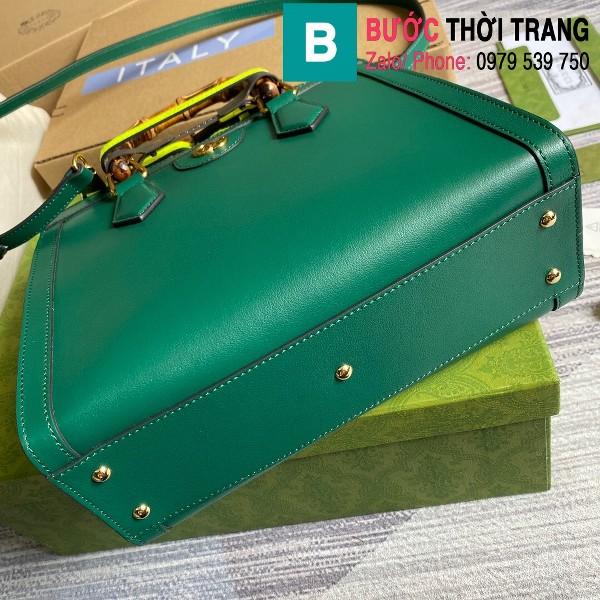 Túi xách Gucci Diana small tote bag siêu cấp da bê màu xanh lá cây size 27cm - 660195
