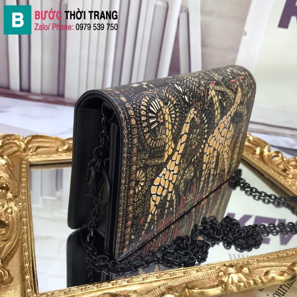 Túi xách Dior Wallet On Chain siêu cấp da cừu màu 2 size 22 cm