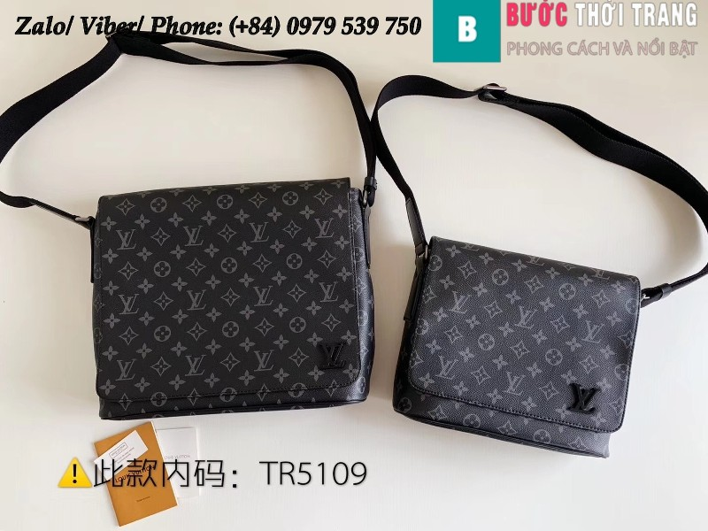 Túi Louis Vuitton District MM Monogram Eclipse - LV M44001