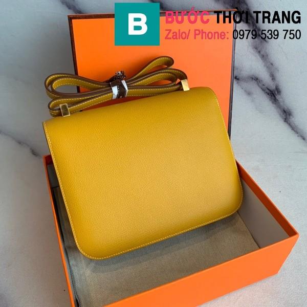 Túi xách Hermes Constance siêu cấp da epsom màu vàng size 18cm