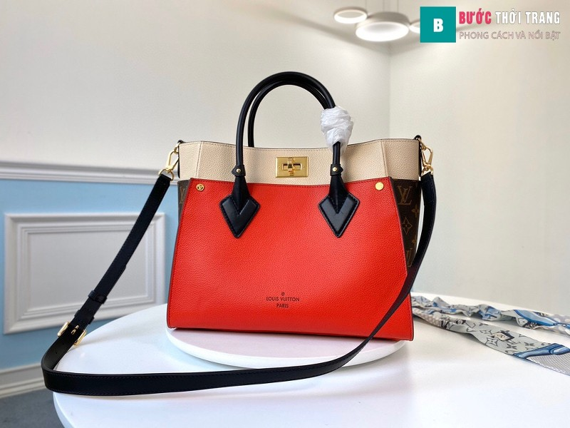 Túi xách LV Louis Vuitton On my side siêu cấp màu đỏ size 30.5 cm - M53824
