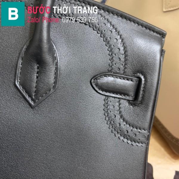 Túi xách Hermes Birkin siêu cấp da Togo màu đen size 30cm