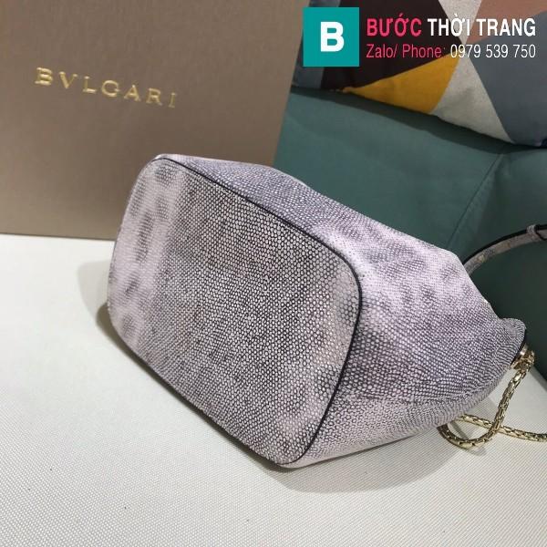 Túi Bvlgari Serventi Forever Bucket bag siêu cấp da kakung màu 5 size 16cm - B287641