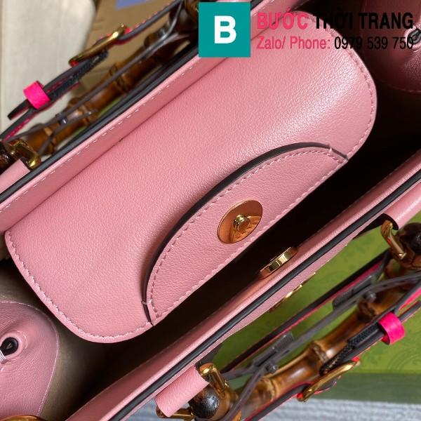 Túi xách Gucci Diana small tote bag siêu cấp da bê màu hồng size 27cm - 660195