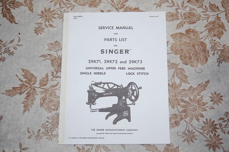 Collectibles Singer 29K Sewing Machine 29K71 29K72 29K73 parts ...