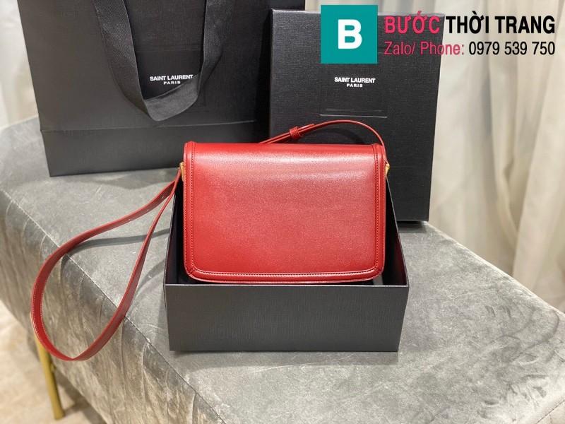 Túi xách YSL Solferino box Sant Laurent siêu cấp da bê màu đỏ size 23cm - 634305