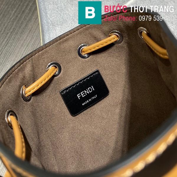 Túi xách Fendi Mon Tresor siêu cấp da bê màu vàng size 12cm