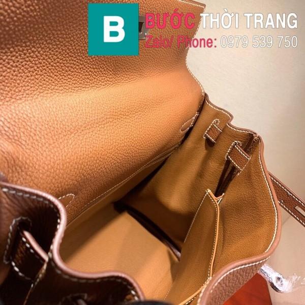 Túi xách Hermes Kelly siêu cấp da togo màu bò size 28cm
