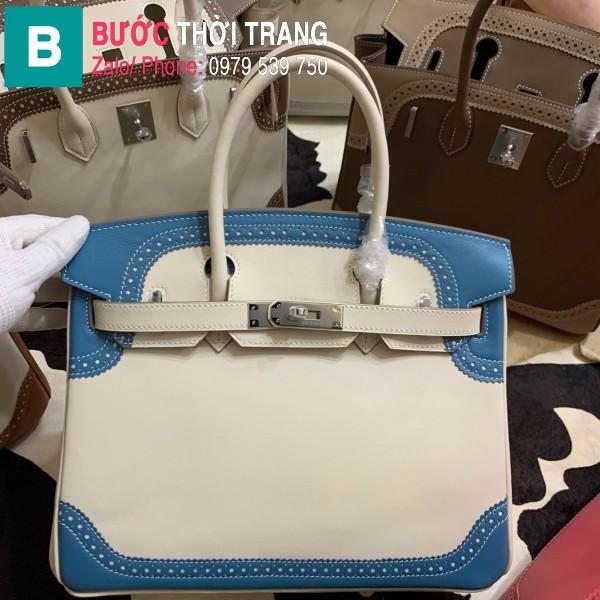 Túi xách Hermes Birkin siêu cấp da Togo màu trắng 2 size 30cm