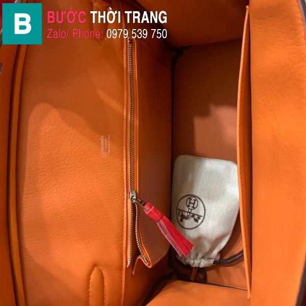 Túi xách Hermes Birkin siêu cấp da Togo màu cam size 30cm