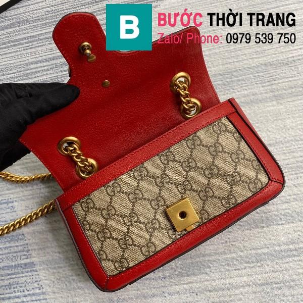 Túi xách Gucci Marmont matelasé mini bag siêu cấp viền đỏ size 22cm - 446744