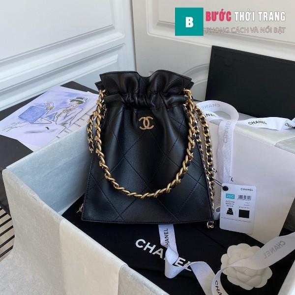 Túi xách Chanel Shopping Bag siêu cấp da cừu size 22cm màu đen - AS2169