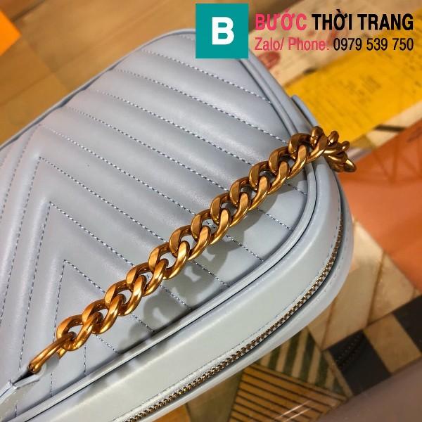 Túi xách Louis Vuitton New Wave siêu cấp da bê màu xanh nhạt size 21.5 cm - M53683