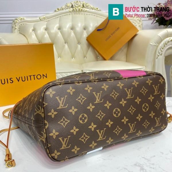 Túi xách Louis Vuitton Game on Neverfull MM siêu cấp màu nâu size 31 cm - M57483