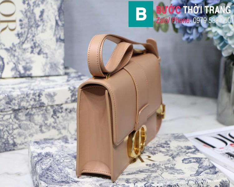 Túi xách Dior 30 Montaigne siêu cấp da bê màu nude size 25cm
