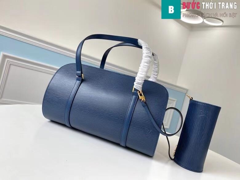 Túi xách LV Louis Vuitton Epi Soufflot Shoulder Bag siêu cấp màu xanh size 30 cm - M52222