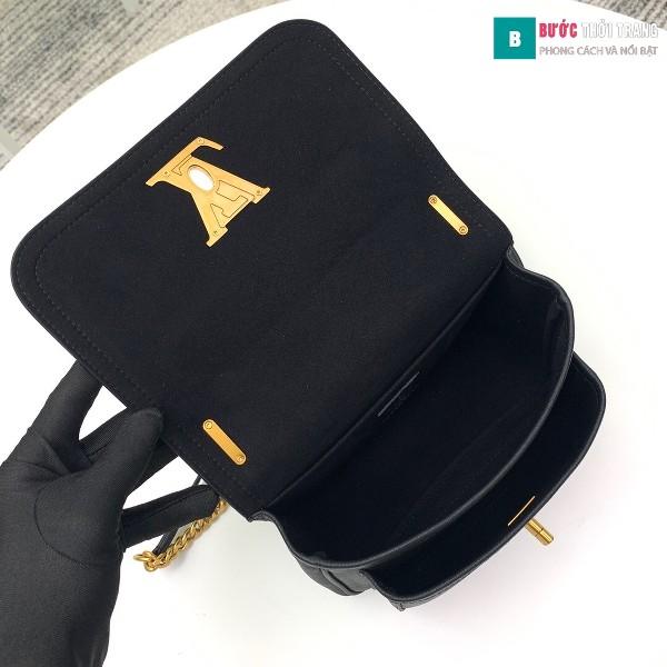 Túi xách LV Lockme Chain PM siêu cấp màu đen size 23 cm - M57073
