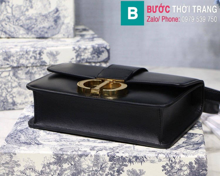 Túi xách Dior 30 Montaigne siêu cấp da bê màu đen size 24cm