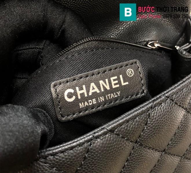 Túi xách Chanel Cocohandle Flap bag siêu cấp da bê màu đen size 23cm - 92990