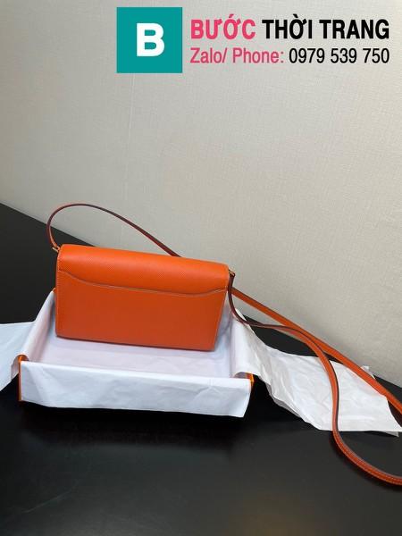 Túi xách Hermes Constance siêu cấp da epsom màu cam size 20.5cm