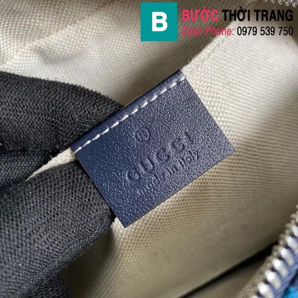 Túi xách Gucci Marmont small shoulder bag siêu cấp casvan màu tím xanh đỏ size 24cm - 447632
