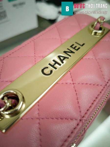 Túi xách Chanel Vanity bag with strap siêu cấp màu hồng size 16 cm - AP1472y