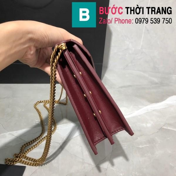 Túi xách YSLSaint Laurent Casandra bag siêu cấp màu đỏ đô size 22cm - 532750