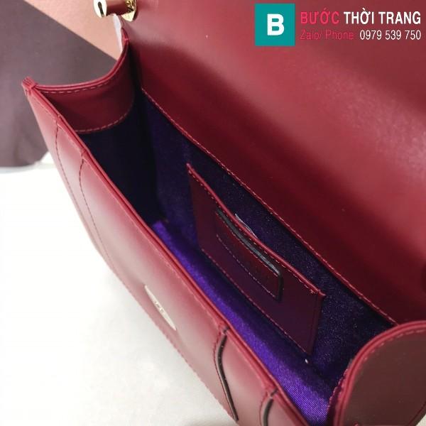 Túi xách Bvlgari serventi forever siêu cấp da bê màu đỏ thẫm size 20 cm