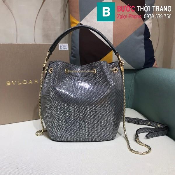 Túi Bvlgari Serventi Forever Bucket bag siêu cấp da kakung màu 3 size 16cm - B287641