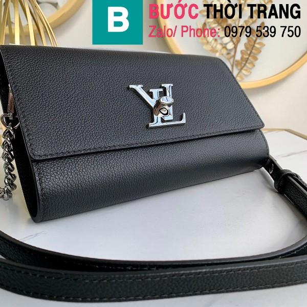 Túi xách Louis Vuitton Mylockme Clutch siêu cấp da bê màu đen size 23.5 cm - M56088