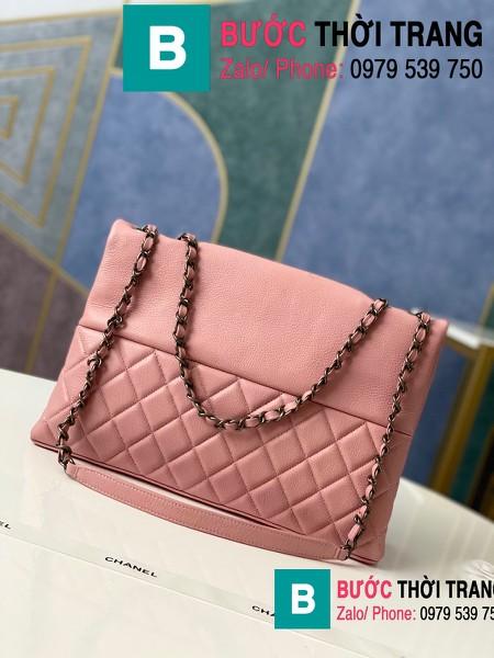 Túi đeo chéo Chanel Bag siêu cấp da cừu màu hồng size 32cm - 7095