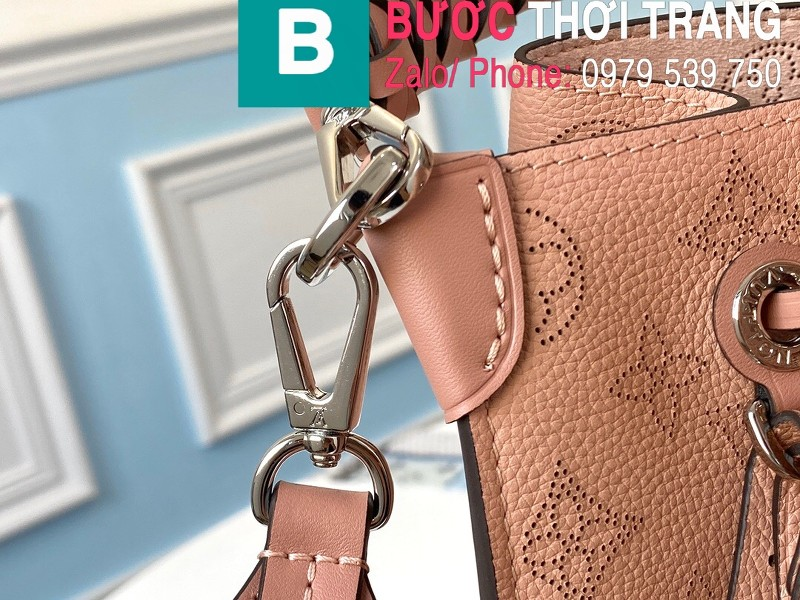 Túi xách Louis Vuitton Muria siêu cấp da bê màu hồng size 25 cm - M55801