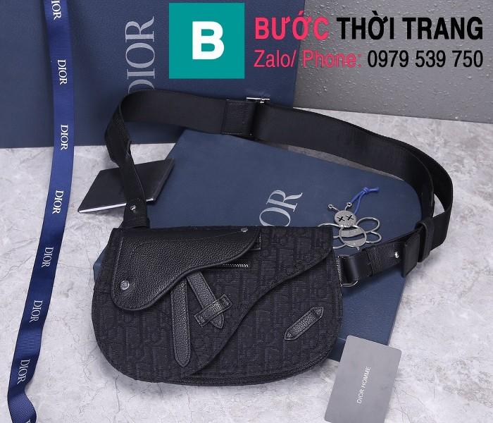 Túi xách Dior Saddle Bag siêu cấp chất liệu vải casvan màu 2 size 24cm