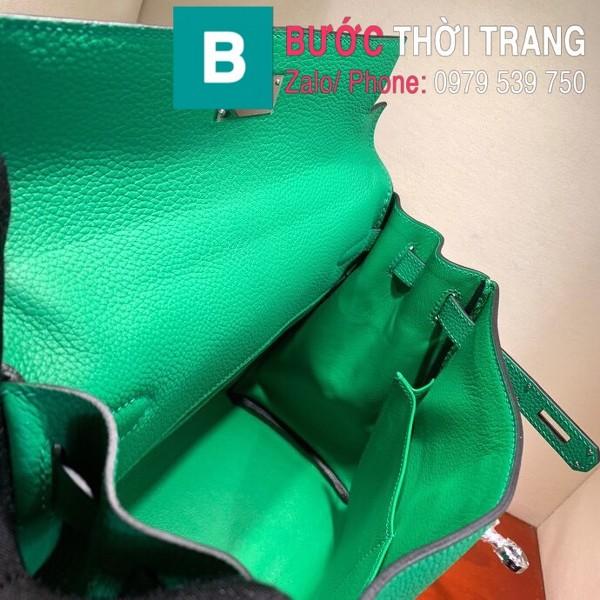 Túi xách Hermes Kelly siêu cấp da togo màu xanh ngọc size 28cm