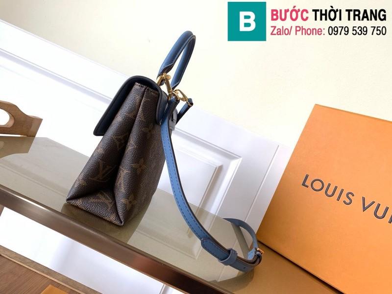 Túi xách Louis Vuitton Locky BB siêu cấp da bò màu xanh đậm size 20 cm - M44321