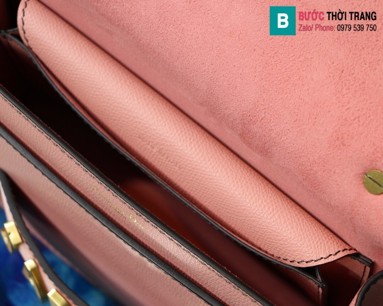 Túi xách Dior J'adior siêu cấp da xước màu hồng size 25cm