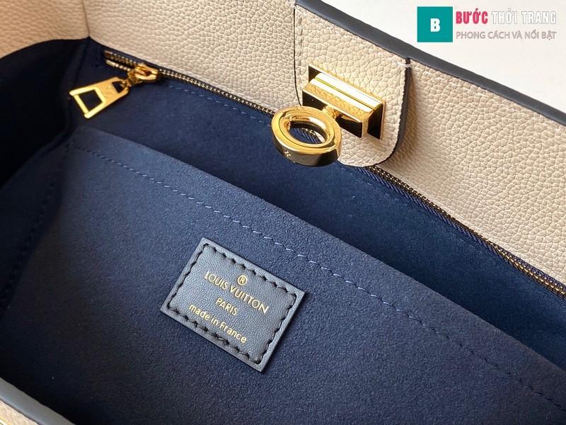 Túi xách LV Louis Vuitton On my side siêu cấp màu xanh size 30.5 cm - M55933