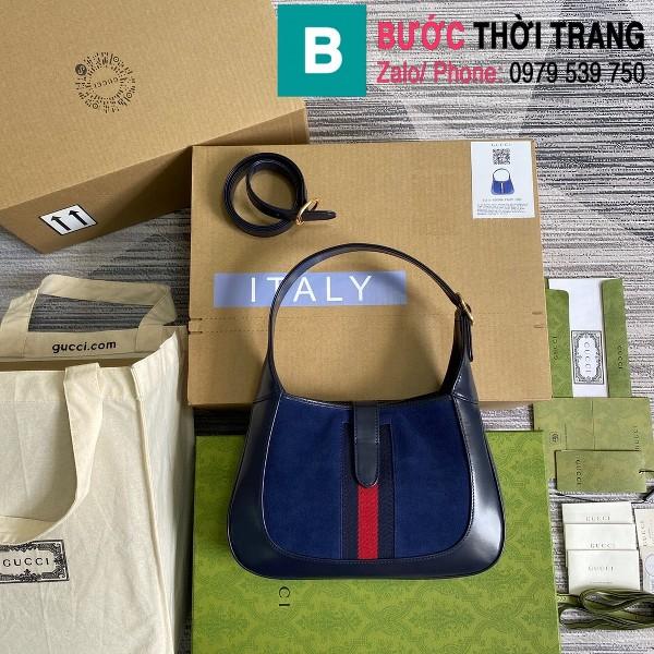Túi xách Gucci Jackie 1961 small shoulder bag siêu cấp da bê màu xanh size 28cm - 636709