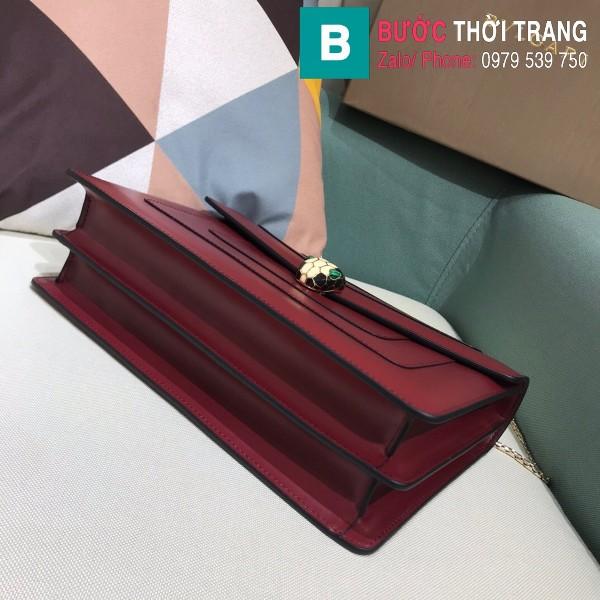 Túi Bvlgari Serventi Forever shoulder bag siêu cấp da bê màu tím huế size 28cm - 35106