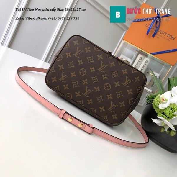 Túi xách LV Louis Vuitton Neo Noe siêu cấp dây màu hồng nhạt size 26cm - M44022